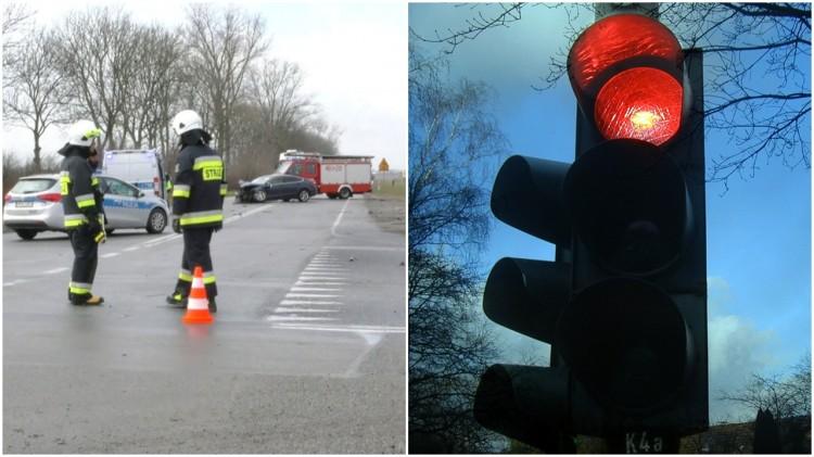 Sygnalizacja świetlna na skrzyżowaniu DK22 z drogą na Kończewice i Mątowy Wielkie. Zobacz plany przebudowy.