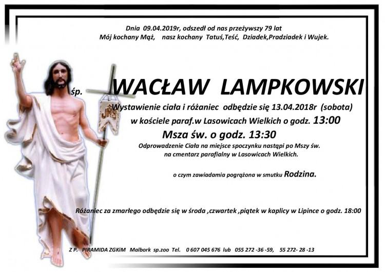 Zmarł Wacław Lampkowski. Żył 79 lat