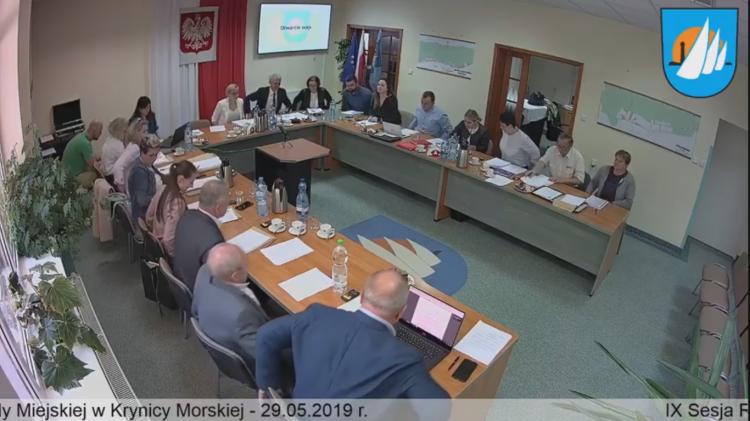 IX Sesja Rady Miejskiej w Krynicy Morskiej. Zobacz na żywo