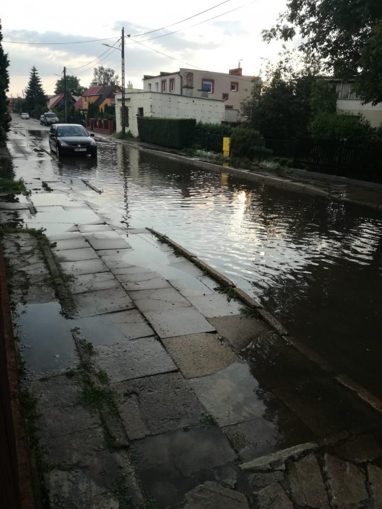 Wilcza znowu zalana. Skutki burzy w Malborku.
