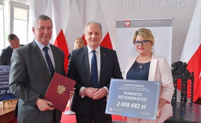 Powiat sztumski: Dofinansowanie na modernizację dróg w ramach Funduszu Dróg Samorządowych.