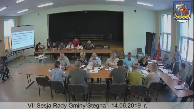 VII sesja Rady Gminy Stegna na żywo