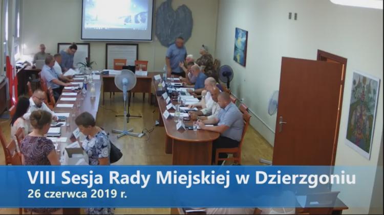 VIII sesja Rady Miejskiej w Dzierzgoniu na żywo