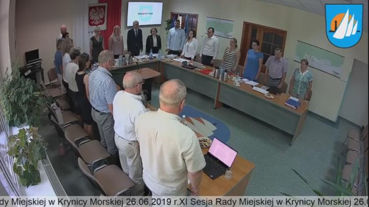 XI sesja Rady Miejskiej Krynicy Morskiej na żywo