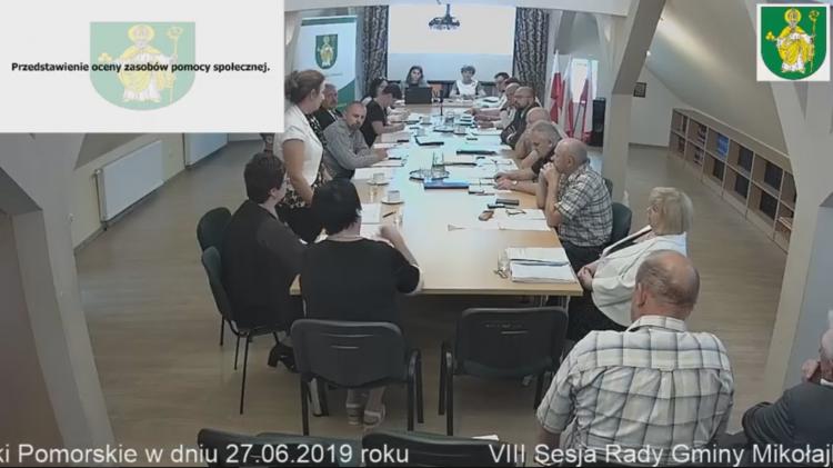 VIII sesja Rady Gminy Mikołajki Pomorskie na żywo