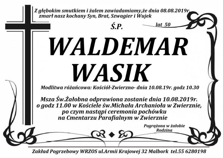 Zmarł Waldemar Wasik. Żył 50 lat.
