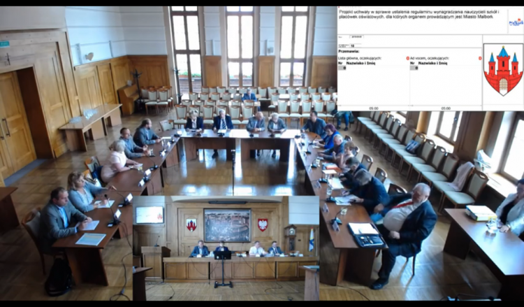 XIII nadzwyczajna sesja Rady Miasta Malborka. Zobacz na żywo.