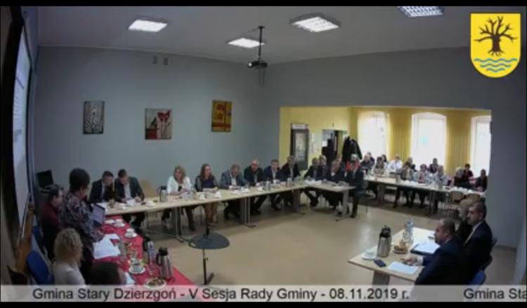 Sesja Rady Gminy Stary Dzierzgoń. Zobacz na żywo