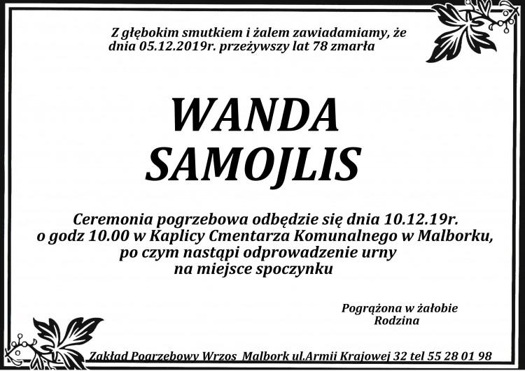 Zmarła Wanda Samojlis. Żyła 78 lat.