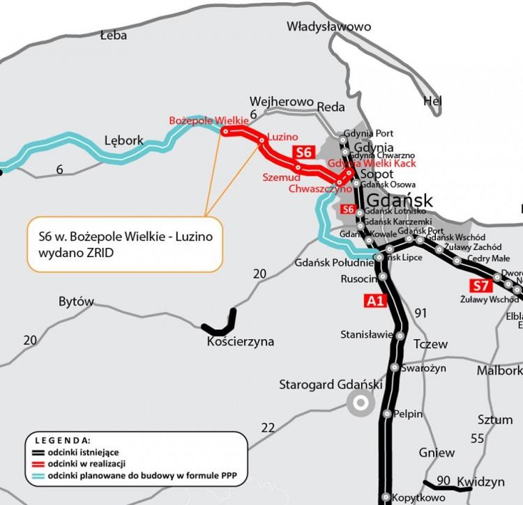 Kolejne zezwolenie dla drogi ekspresowej S6 pomiędzy Bożympolem Wielkim a Gdynią