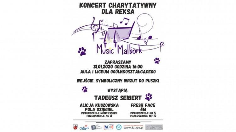 """W piątek kolejna zbiórka dla """"Reksa"""". Zobacz kto wystąpi na Music Malbork 2020."""