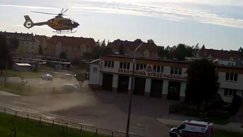 Mężczyzna z podejrzeniem urazu kręgosłupa przetransportowany LPR do Gdańska.