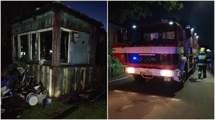 Lisewo Malborskie. Nocny pożar budynku gospodarczego.