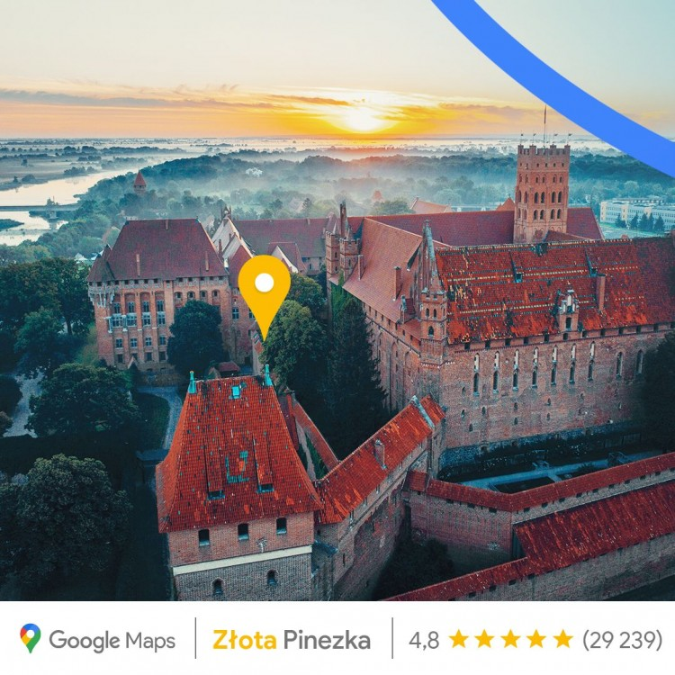 Złota Pinezka dla Zamku w Malborku. Specjalne wyróżnienie z okazji 15. rocznicy uruchomienia Map Google.