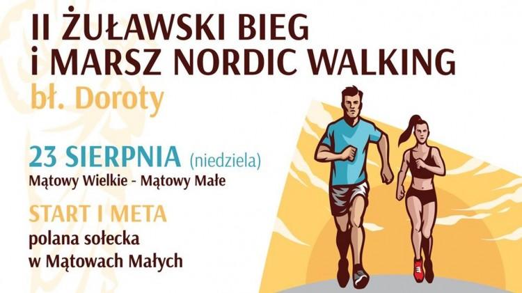 W najbliższą niedzielę odbędzie się II Żuławski Bieg i Marsz Nordic Walking bł. Doroty. Szczegóły na plakacie.