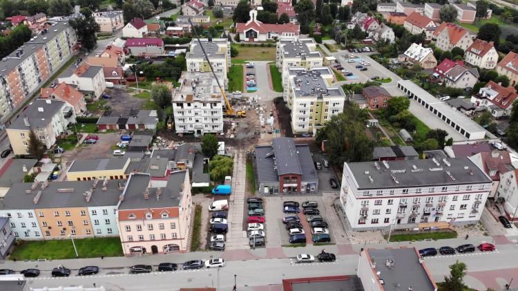 Internet światłowodowy na Dworcowej. Zobacz Nowy Dwór Gdański z lotu ptaka