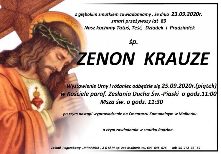 Zmarł Zenon Krauze. Żył 89 lat.