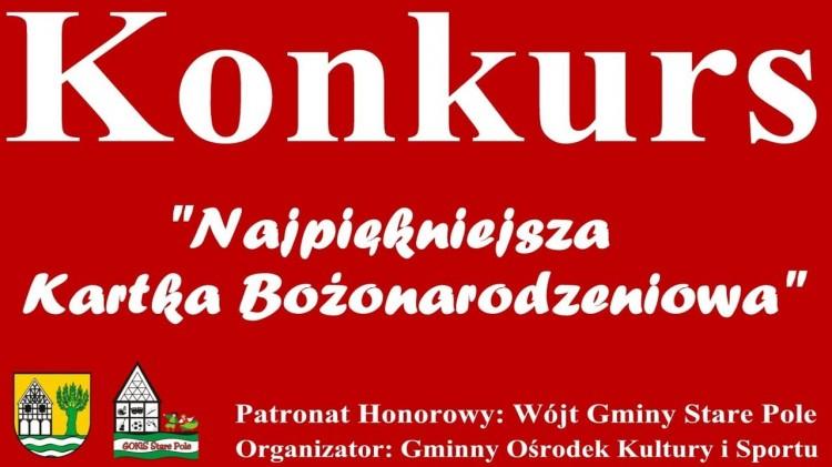 """GOKiS Stare Pole ogłasza konkurs na """"Najpiękniejszą Kartkę Bożonarodzeniową 2020""""."""