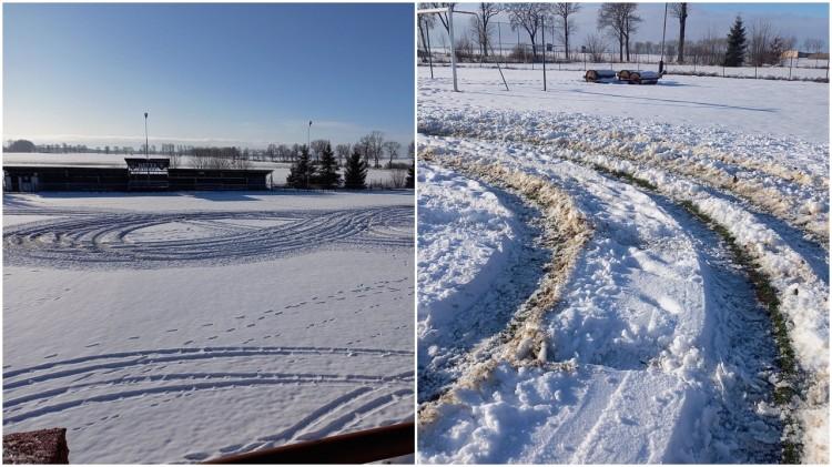 Gmina Miłoradz. Nuda czy skrajna głupota? Zniszczono murawę gminnego stadionu.
