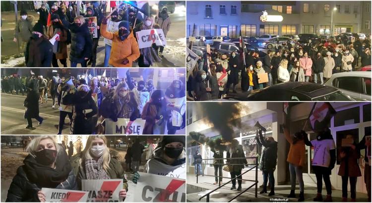 Malbork. Dni Hańby - Protest przeciwko zaostrzeniu prawa do aborcji [wideo, zdjęcia] - 29.01.2021