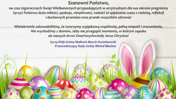 Świąteczne życzenia Wójta Gminy Malbork i Przewodniczącego Rady Gminy.