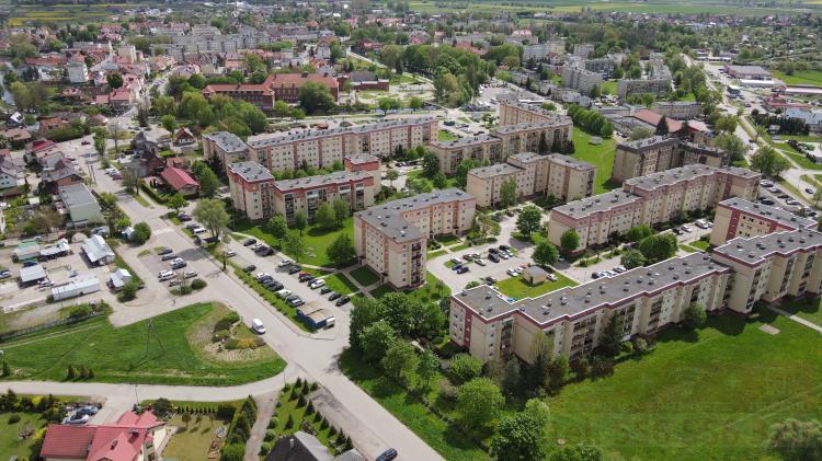 Najszybszy Internet Światłowodowy dostępny na całym osiedlu Wyszyńskiego. Nowy Dwór Gdański z lotu ptaka - maj 2021