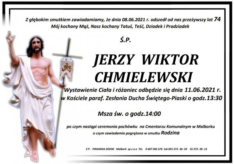 Zmarł Jerzy Wiktor Chmielewski. Żył 74 lata.