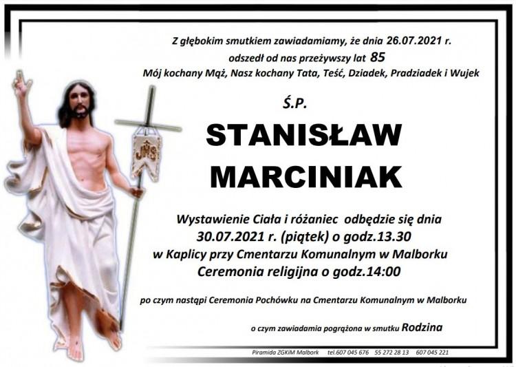 Zmarł Stanisław Marciniak. Żył 85 lat.
