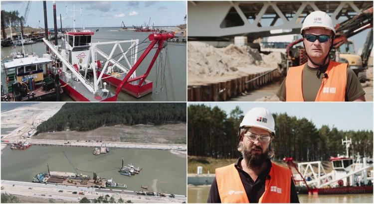 Przekop Mierzei Wiślanej. Trwa pogłębianie kanału - raport z budowy lipiec 2021