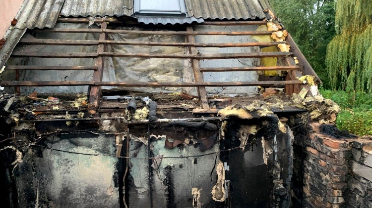 Pożar kotłowni w Drewnicy – raport nowodworskich służb mundurowych.