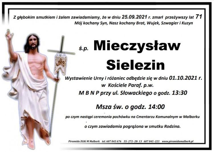 Zmarł Mieczysław Sielezin. Żył 71 lat.