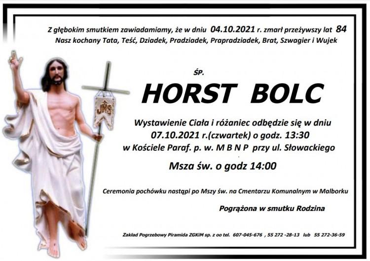 Zmarł Horst Bolc. Żył 84 lata.