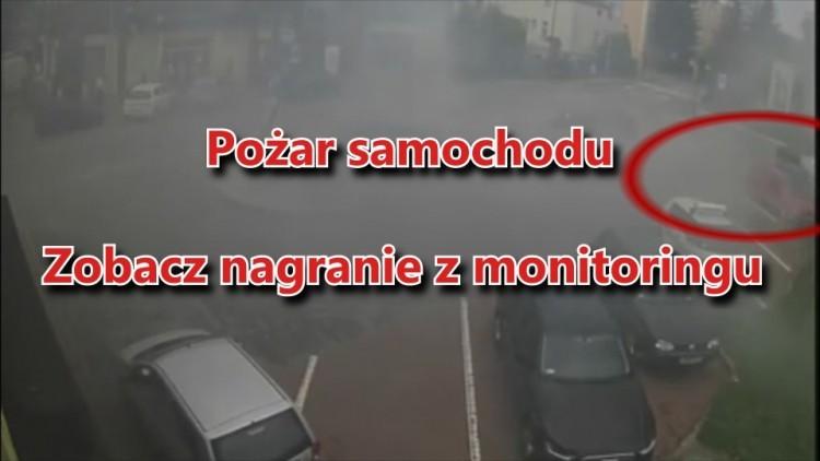 Pożar auta przy ul. Kopernika. Zobacz akcję gaśniczą płonącego BMW!…
