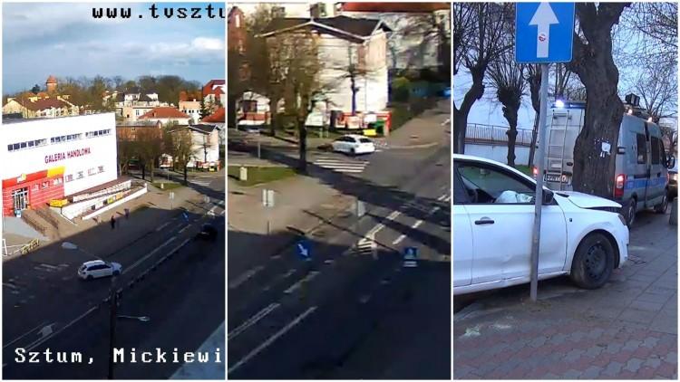 Sztum: Pijany kierowca rozbił się na drzewie. Nie trafił w zakręt...…