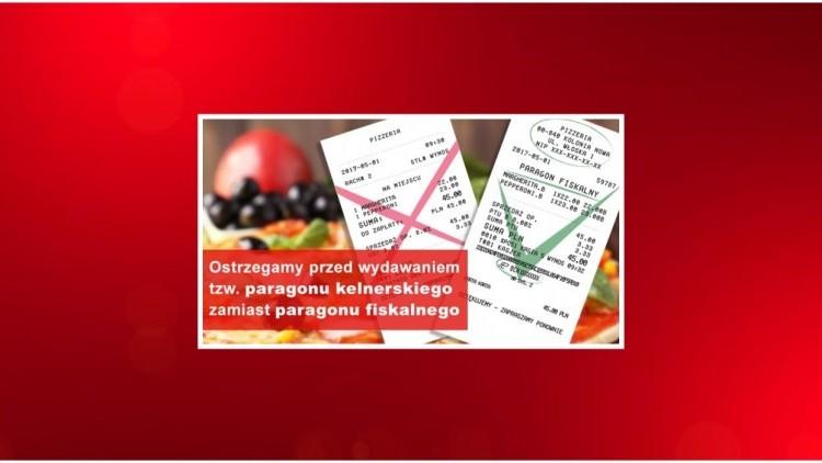 Ostrzeżenie przed konsekwencjami wydawania tzw. rachunku lub paragonu…