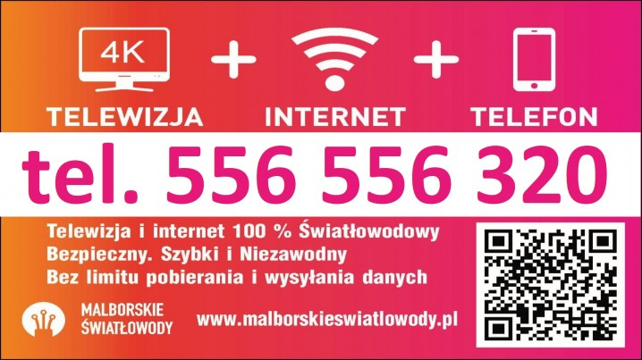 Mega Szybki internet: Malbork, Nowy Staw, Nowy Dwór…